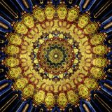 Предпосылка текстуры орнамента Grunge восточная Стоковое Изображение