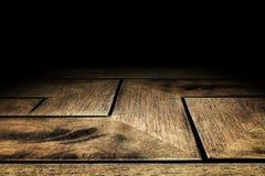 Предпосылка текстуры пола планки зигзага деревянная для дисплея вашего побуждает Стоковое Изображение RF