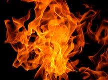 Предпосылка текстуры пламени пожара Стоковая Фотография