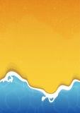 Предпосылка текстуры пляжа лета с морем и песком Стоковое Фото