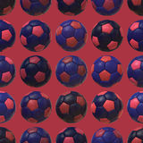 Предпосылка текстуры розовых голубых футбольных мячей безшовная Стоковое фото RF