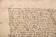 Предпосылка текстуры старого Grunge текста письма рукописного винтажная Стоковые Фото