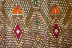 Предпосылка текстуры тайской ткани родная Стоковая Фотография RF
