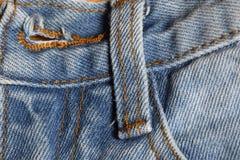 Предпосылка текстуры ткани Джина, некоторая часть короткого голубого лотка демикотона Стоковые Фотографии RF