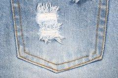 Предпосылка текстуры ткани Джина, некоторая часть короткого голубого лотка демикотона Стоковая Фотография