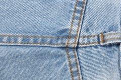 Предпосылка текстуры ткани Джина, некоторая часть короткого голубого лотка демикотона Стоковые Изображения