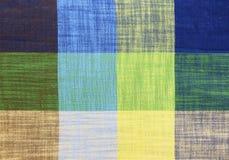Предпосылка текстуры ткани картины таблицы Стоковое Изображение