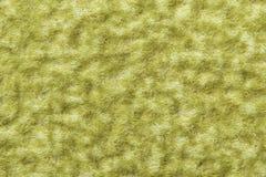 Предпосылка текстуры шерстей, макрос зеленой шерстяной ткани, волосатый грипп Стоковые Изображения RF