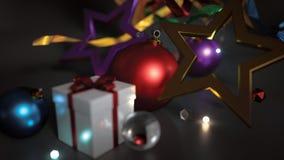 Предпосылка темноты зарева Bokeh орнамента рождества бесплатная иллюстрация