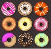 предпосылка темноты donuts бесплатная иллюстрация