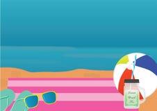 Предпосылка темы пляжа Стоковое Изображение