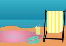 Предпосылка темы пляжа Стоковая Фотография