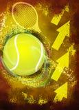 Предпосылка тенниса Стоковое Фото