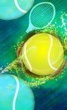 Предпосылка тенниса Стоковые Фото