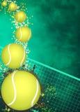 Предпосылка тенниса Стоковое Изображение
