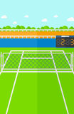 Предпосылка теннисного корта Стоковое Изображение RF