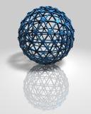 предпосылка технологии абстрактного голубого шарика 3d современная Стоковая Фотография