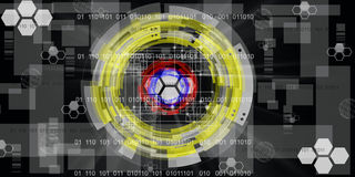Предпосылка технологии будущая абстрактная Стоковое Фото