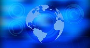 Предпосылка технологии глобуса мира будущая Стоковое фото RF