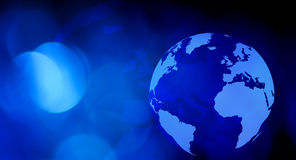 Предпосылка технологии глобуса мира Стоковые Изображения RF