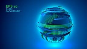 Предпосылка технологии глобуса Стоковые Фотографии RF