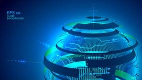 Предпосылка технологии глобуса Стоковые Изображения RF