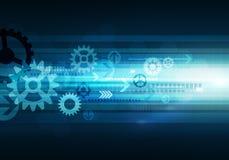 Предпосылка технологии дела цифров схематическая с стрелкой и Стоковые Изображения
