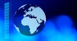 Предпосылка технологии земли планеты голубая Стоковые Изображения
