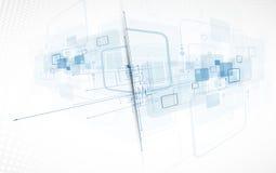 Предпосылка технологии, идея решения глобального бизнеса Стоковое Изображение RF