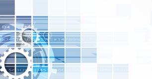 Предпосылка технологии, идея решения глобального бизнеса Стоковая Фотография