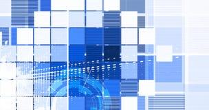 Предпосылка технологии, идея решения глобального бизнеса Стоковое Изображение