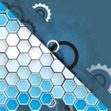 Предпосылка технологии, идея решения глобального бизнеса Стоковые Фотографии RF