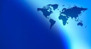 Предпосылка технологии карты мира Стоковое Фото