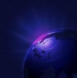 Предпосылка технологии с глобусом и электронное и космос для текста, иллюстрации Стоковое фото RF