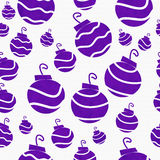 Предпосылка ткани орнамента рождества фиолетовая ретро Стоковое Изображение