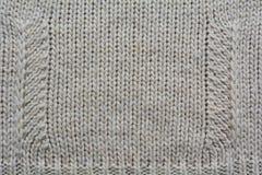 Предпосылка ткани шерстей вязать Стоковое Изображение RF