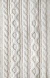 Предпосылка ткани knit кабеля Стоковая Фотография RF