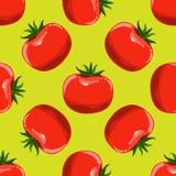 Предпосылка томатов безшовная Вектор дизайна плоского и сплошного цвета Стоковое Изображение
