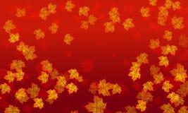 Предпосылка тона кленового листа красная Стоковые Фотографии RF