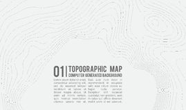 Предпосылка топографической карты с космосом для экземпляра Выровняйте предпосылку контура карты топографии, географический консп Стоковые Фотографии RF