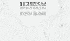 Предпосылка топографической карты с космосом для экземпляра Выровняйте предпосылку контура карты топографии, географический консп Стоковые Изображения RF