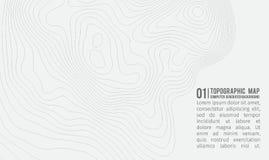 Предпосылка топографической карты с космосом для экземпляра Выровняйте предпосылку контура карты топографии, географический консп иллюстрация штока