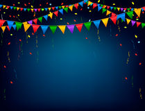 Предпосылка торжества праздника с гирляндой Стоковые Изображения