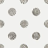 Предпосылка точек польки картины зебры Иллюстрация штока