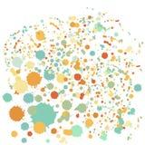 Предпосылка точки Splatter Стоковые Фото