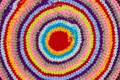 Предпосылка традиционной русской круглой циновки knit handmade стоковые изображения rf