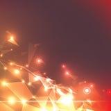 Предпосылка треугольника вектора абстрактная Стоковая Фотография RF