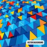 Предпосылка треугольника красочная голубая желтая Стоковое Изображение RF