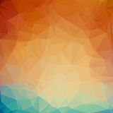 Предпосылка треугольника Teal оранжевая Стоковые Фотографии RF