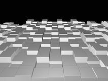 Предпосылка трехмерных кубов Стоковые Изображения RF